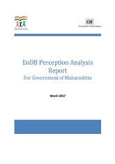 EoDB Perception Analysis Report For Government of Maharashtra