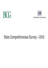 State Competitiveness Survey – 2016