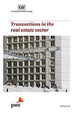 Transactions in the real estate sector