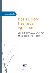 India's existing free trade agreements : An Impact analysis of merchandise trade