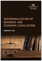 Decriminalization of Business and Economic Legislation