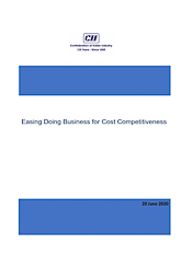 Easing Doing Business for Cost Competitiveness