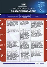 Union Budget 2021 - 22: CII Recommendations