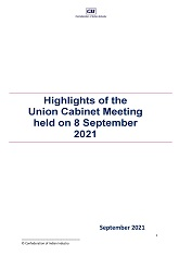 Highlights of the Union Cabinet Meeting held on 8 September 2021