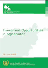 Investment Opportunities in Afghanistan