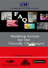 Banking access for the visually challenge: FAQ