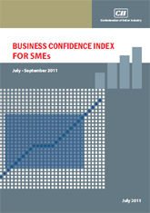 Business Confidence Index for SMEs: July - September, 2011