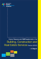 Human resource and skill requirements in building, construction industry and real estate services