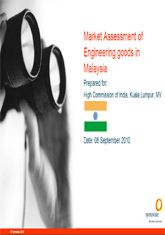 Market assessment of engineering goods in Malaysis
