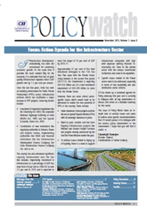 Infrastructure Policy Watch (November 2012)