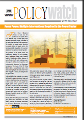 Power Sector Policy Watch: April 2012