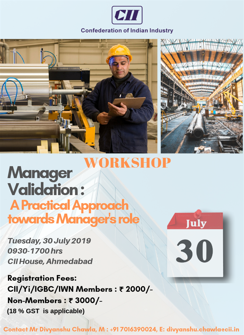 Manager Validation: A Practical Approach towards Manager's Role Gujarat