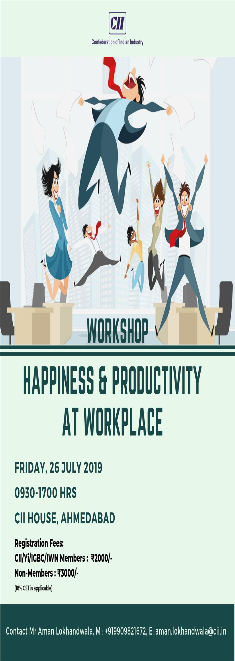 Workshop on: Happiness & Productivity at Workplace Gujarat